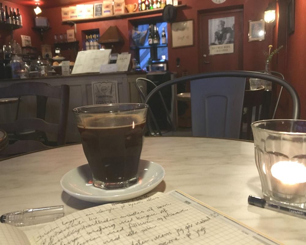 Snevejr og kaffe i Horsens